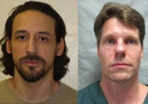 James Newman, left, and Thomas Deering were taken into custody at Miss Carly's, a homeless shelter in Rockford, Ill. (Photo/Portage Police Dept.)