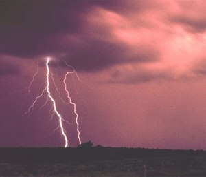 Lightning strike file photo. (NOAA image library)