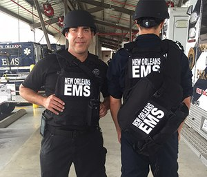 Street-level personnel with New Orleans EMS can now protect themselves ballistic vests and helmets in active-shooter scenes.