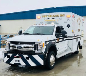 In a statement, the city estimated that it has saved 13,340 gallons of diesel fuel – a cost of nearly $39,000 – since the first ambulance was equipped with the technology in June 2018. (Photo/ New Orleans Emergency Medical Services)
