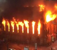 NYC fire heavily damages historic church