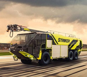 Oshkosh Airport Products secured its first order for the new Striker ARFF vehicle which will go to MSP International Airport in late summer 2021(Courtesy photo).