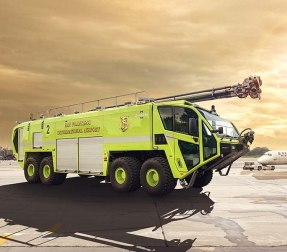 Oshkosh Airport Products has delivered three Striker 8x8 ARFF vehicles to the San Francisco Fire Department Airport Division. (Courtesy photo)