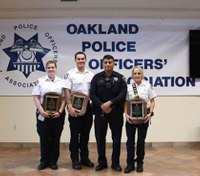 Police union honors paramedics for helping officer under attack