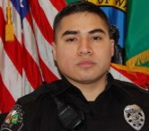 Officer Antonio Bustamante continued to pursue two suspects on foot even after being shot in the leg.