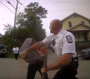 Columbus Division of Police body worn camera footage of Officer Anthony L. Johnson hitting Jonathan Robinson.