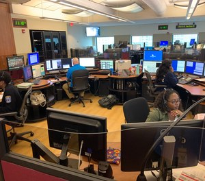 What are the pandemic's effects on staffing within the ECC if dispatch center staff are quarantined or otherwise prevented from reporting to work? (Photo/Arlington County Emergency Communications Center)