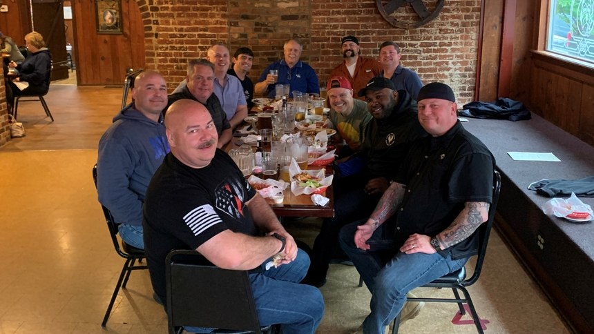 After long days training at the NFA, firefighters converge on the Ott House Pub.