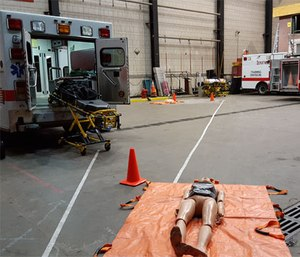 Equipment ready for PAT station. (Photo courtesy of Bryan Fass)