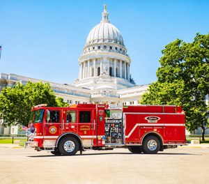 The Madison Fire Department now has in its arsenal the country's first electric fire truck in active service – the Pierce Volterra zero-emissions pumper.