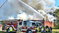Photo of the Week: Rocky Mount (N.C.) firefighters battle fire at furniture manufacturing building