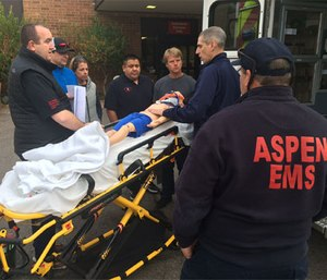 Paramedics use simulation training in a continuous learning culture.