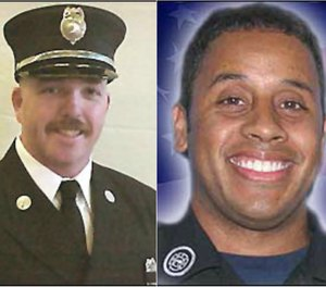 "Buffalo (N.Y.) Fire Department (BFD) Lieutenant Charles ""Chip"" McCarthy and Firefighter Jonathan Croom were killed while operating at a mixed commercial/residential structure fire at 1815 Genesee St., where there were reports of civilians trapped. (Photos/Courtesy of www.firehero.org)"