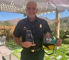 San Diego Fire-Rescue Department Battalion Chief and Health & Safety Officer David Picone has been named the 2020 Chief Sandy Davis Safety Officer of the Year by the Fire Department Safety Officers Association. (Photo/Courtesy of David Picone)