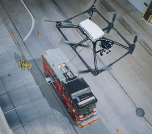 The Situational Awareness System is a self-piloting, actively-tethered aerial device that can be deployed from any apparatus currently in use, providing fire departments an immediate integration without the need for additional technology. (Photo/Pierce Manufacturing)