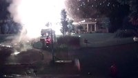 Video: Propane tank explodes as Mich. firefighter approaches scene