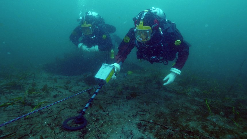 An underwater metal detector is a must-have for any police department, fire department or military team that is involved with the location of missing evidence. (Courtesy photo)