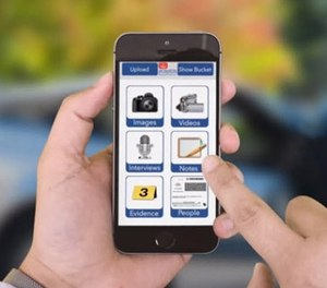 San Marcos PD adopted QueTel's mobile evidence app in 2016, which allows officers to enter their own evidence in the field. Now they can submit notes and files electronically instead of having to drive to the station to enter digital evidence. (image/QueTel)