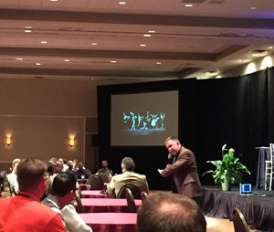 Dr. Ed Racht, chief medical officer for American Medical Response, explained that collaboration is different than teamwork during the closing presentation of the 10th Pinnacle EMS Leadership forum.