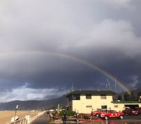 Photo of the Week: Rainbow over Los Angeles County FD Lifeguard HQ