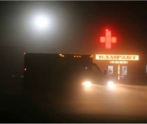 Humboldt General Hospital began providing medical care at Burning Man in 2011 in its Rampart medical facility (image courtesy HGH EMS).