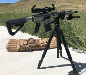 The Reaper shooting platform with a SLIK tripod is offered as a package from Kopfjager Industries. (Photo/Pete Goode)