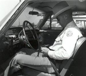 S.C. Highway PatrolmanRed Lanier in 1962.