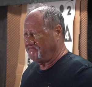 """""""You couldn't pry my eyes open with a crowbar,"""" says Deputy Steve Towns after being sprayed with Presidia Gel. In a demonstration video, Deputy Towns is sprayed and deconned three times in 15 minutes."""