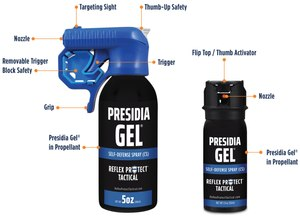 The combination of Presidia Gel and its antidote, Reflex Remove, provide a safe and effective alternative to other less-lethal tools. The ability to target a subject from up to 18 feet away without contaminating bystanders, plus the ability to decontaminate a subject within minutes, is a game-changer, says one LEO user.