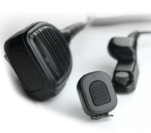 The Rhino Blue Speaker Microphone with Wireless PTT is an all-in-one solution.