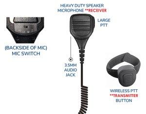 Rhino Blue Speaker Microphone with Wireless PTT