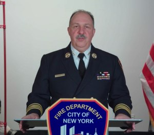 FDNY Chief of Operations Tom Richardson shared a video update with members regarding the COVID-19 impact on the department. (Photo/Vimeo)