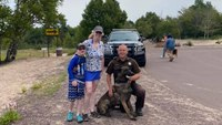 Mich. K-9 sniffs out woman's wedding rings at beach