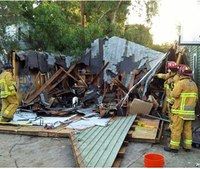 Firefighters treat 8 at college party roof collapse