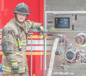 The SAM system manages water flow so you can focus on the fireground. (Image/IDEX)