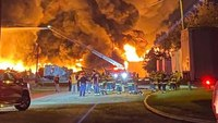 SC FFs battle warehouse fire large enough to be seen on satellite images