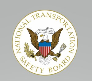 The report pointed out that the damage was 'consistent with a high velocity vertical descent' but the helicopter was upright and nearly intact. (Photo/National Transportation Safety Board)
