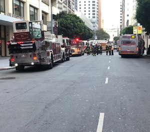 While the exact details of what caused Vann to be struck by a hoseline are unclear, we do know that a San Francisco commuter bus drove through the scene at the time.