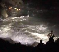 Video: San Francisco FFs rescue man from wave-whipped rocks near Golden Gate Bridge