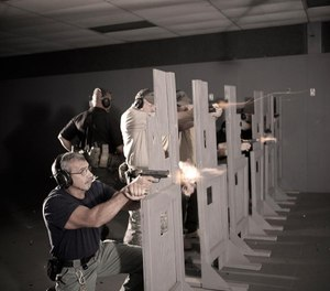 Download the free infographic to find out how often departments require officers to qualify with firearms and whether officers are satisfied with their agency's training. (image/SIG Sauer Academy)