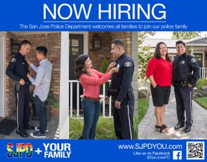 The San Jose Police Department is actively recruiting to fill hundreds of police officer jobs leading Chief Eddie Garcia to create a recruitment campaign targeting all members of the community. (Photo/San Jose Police Department)