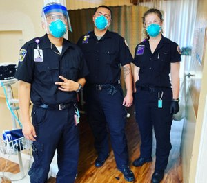EMTs from Royal Ambulance stepped in to help staff skilled nursing facilities (SNFs) in the Bay Area after several SNF staff members and residents fell ill. (Photo/Royal Ambulance)