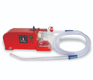 Airway obstruction can present multiple challenges, but numerous tools are available to help EMS providers with airway management, including a battery-operated suction device like the SSCOR Quickdraw Suction Unit shown here.