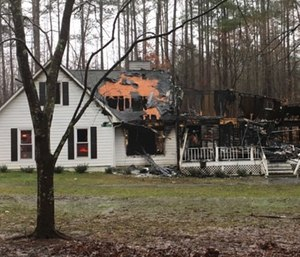 Sandy Springs firefighter Darnell Musgrove lost his home Wednesday night because of a lightning strike. (Photo/GoFundMe)