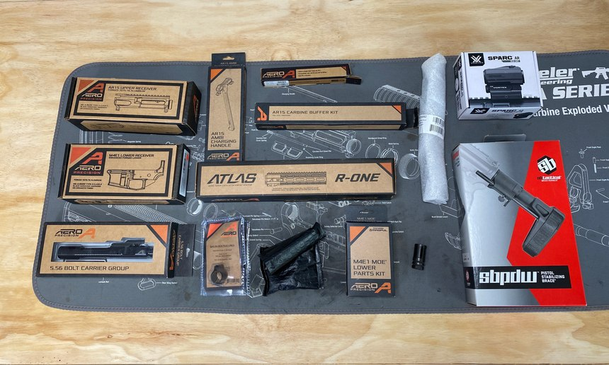 Aero Precision makes some great products that absolutely made this assembly a breeze!