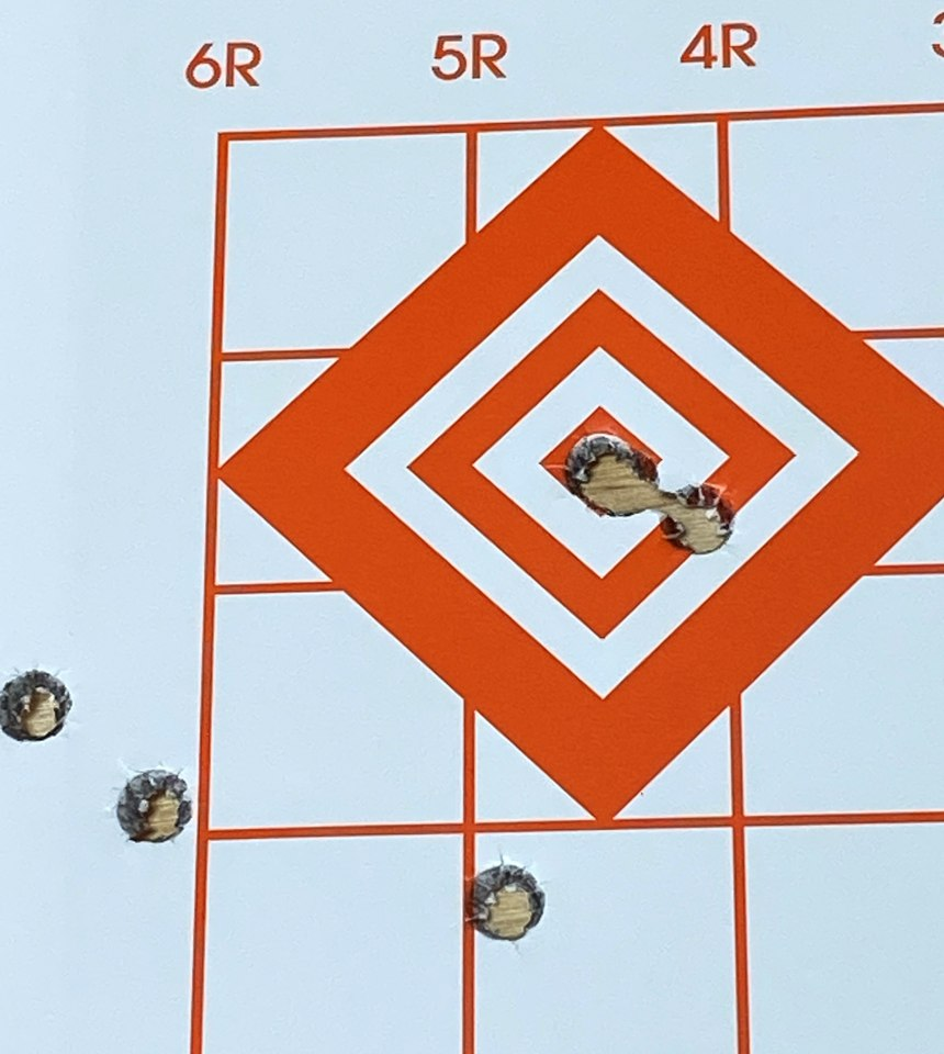 With the final three shot group all touching I was impressed with the accuracy.