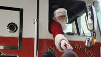 Fire apparatus escort Santa around the country