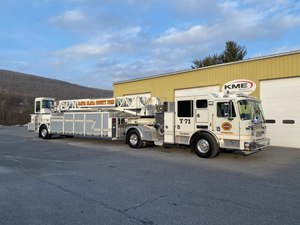 The new 101' TDA will join 33 other KME units currently in service within Santa Clara County.(Courtesy photo)