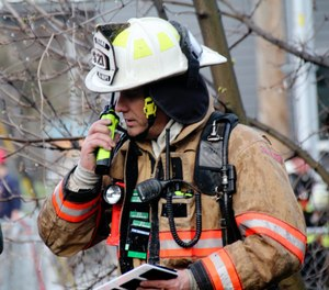 More often than not these days, radio on the fireground is much more disciplined and purpose-driven than ever before. (Photo/Brian Schaeffer)