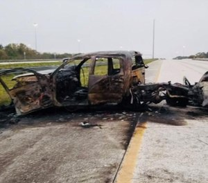 A retired Sarasota County firefighter was killed Sunday while trying to help at the scene of a fiery drunk-driving crash. (Photo/Florida Highway Patrol)
